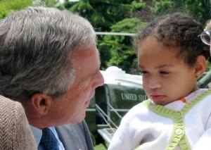 Ariana-Leilani and President George W. Bush