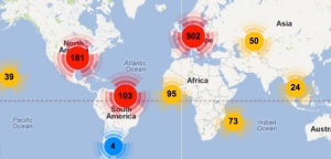 Map of World Wide Supporters of Ariana-Leilani