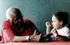 Archbishop Desmond Tutu and Ariana-Leilani