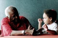 Archbishop Desmond Tutu and Ariana-Leilani